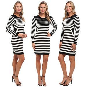 Calvin Klein Horizontal Striped Sweater Dress L